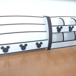 【交渉中】絵本棚 おもちゃ棚 セット ミッキー ディズニー 子供家具 シェルフ 本棚 おもちゃ箱 - 家具