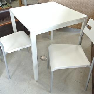 イケアのテーブルと椅子2脚セット  2人用 シンプル 白 ホワイ...