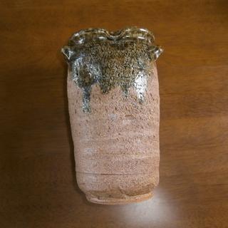焼き物の花瓶 (中古・良品)