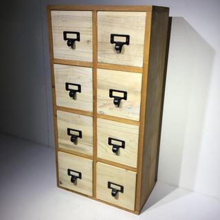 #3713 アンティーク調 木製収納箱