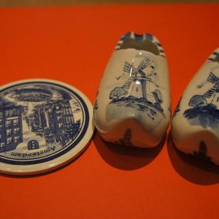 陶器製 靴、コースター 中古品