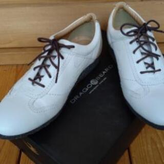 新品未使用 DRAGONBEARE 紳士靴 ホワイト 白