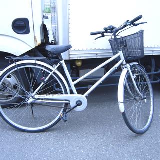 27インチ 自転車 3段 切換 カゴ 荷台 スタンド付き 札幌市...