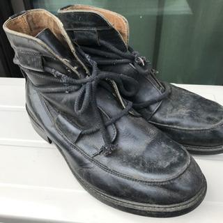 ブーツ 26cm 革 レザー ショートブーツ メンズ
