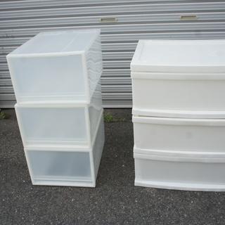 3段収納とボックス収納3個まとめて¥500でお譲ります!