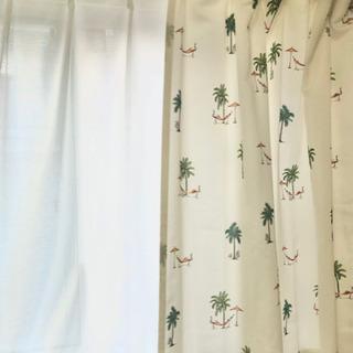 ニトリ 南国 レースカーテン付き 4枚セット値下げ可