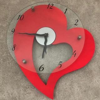 ハートの掛け時計
