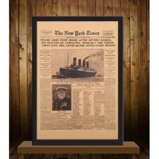 【希少】The New York Times タイタニックの沈没 号外