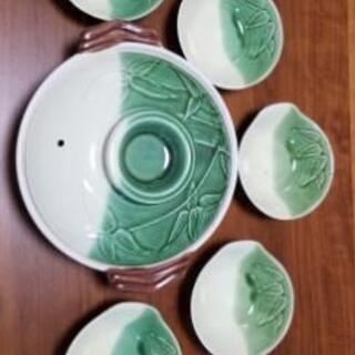 土鍋と取り皿5枚のセット