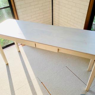 天然 木製 デスク 幅120cm 奥行き45cm 机 テーブル ...