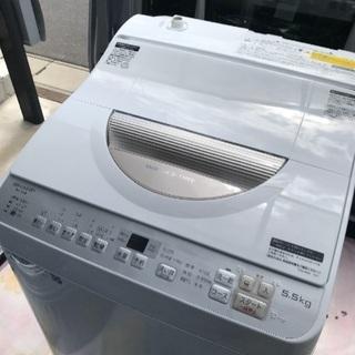 取引中高年式2018年製シャープ洗濯乾燥機容量5.5キロ美品。千...
