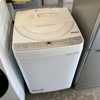 美品 シャープ 6.0kg全自動洗濯機 ES-GE6C-W 20...