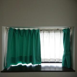 ①美品 一級遮光カーテン 幅100×約93~115cm用 2枚組...
