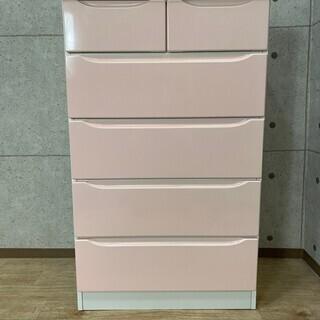 K5*64 ハイチェスト 衣装ケース たんす ピンク 5段