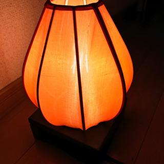 アジアン照明☆オレンジ布