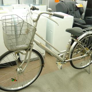 自転車 26インチ シルバー 6段階 切替付き 西岡店