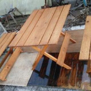 新品★ガーデンテーブル、椅子2脚★配達可能