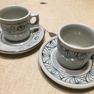 会津酔月焼 ペアコーヒーカップ*