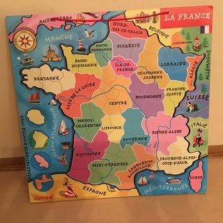 フランス地図  フランス語表記