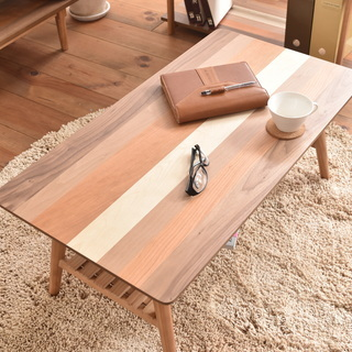 (5/29受け渡し確定)■折りたたみセンターテーブル 4種の天然...