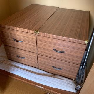 セット 昭和レトロ 押入れ収納 収納ケース 木製 衣装ケース