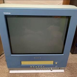 【中古】 SONY ブラウン管テレビデオ 2001年製