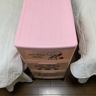 スヌーピー3段BOX(キャスター付き)