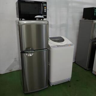 【商談中】家電セット 3点まとめて!2ドア冷蔵庫+洗濯機+オーブ...