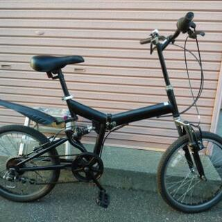 札幌市内配達無料!中古折り畳み自転車20インチブラック!