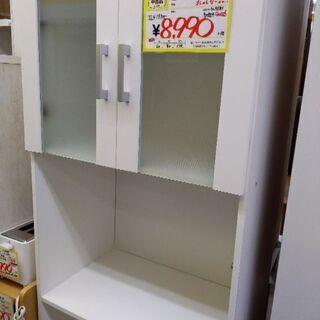 0526-05 食器棚 スリム レンジボード 60幅 福岡糸島唐津