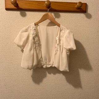 羽織物 白 花 結婚式参列などに