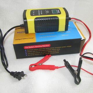 新品同様:大幅値下げ中:クルマ・バイク用 12Vバッテリー充電器...