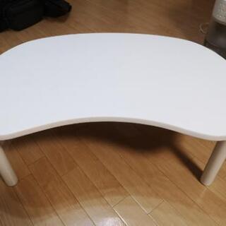【予約有】ホワイトローテーブル 譲ります