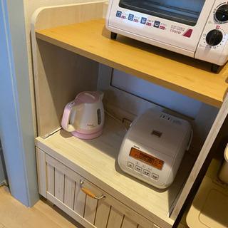 フレンチカントリー収納 食器棚 キッチン収納 ミニレンジ台