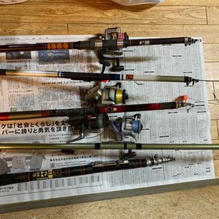 釣竿5本とリール4個セットで‼️ - 呉市
