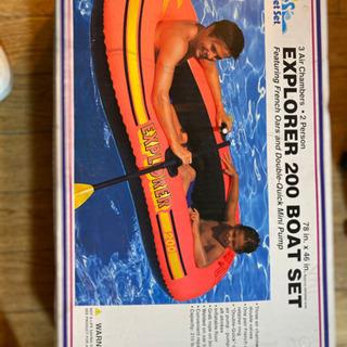 ゴムボート1式新古艇、釣り 海水浴にの画像
