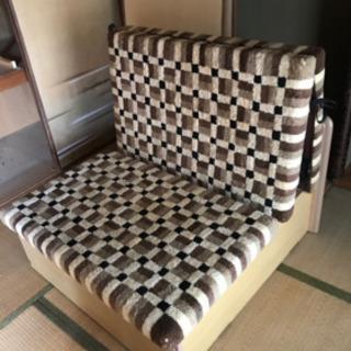 【値下げ】ベッド 2000円 丸八真綿 折り畳み収納ベッドスペー...