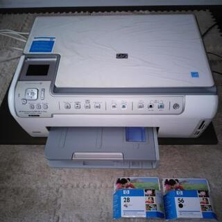 HPプリンター☆新品インクカートリッジ付☆