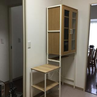 食器棚&レンジ台 セットで【譲ります-届けます〔近隣〕】