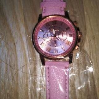 レディース腕時計(ピンク、新品)