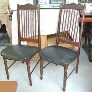 木製 アンティーク椅子 オールドチェア 2脚あります。