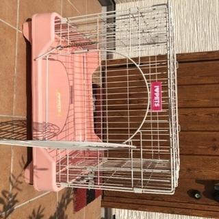 犬猫用ケージ ピンクused