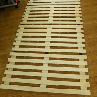 4つ折り すのこベッド シングルサイズ スノコ 通気性◎ コンパ...