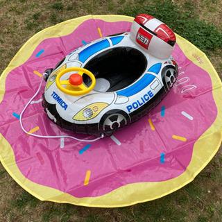 トミカ 足入れ浮き輪 ハンドル付き