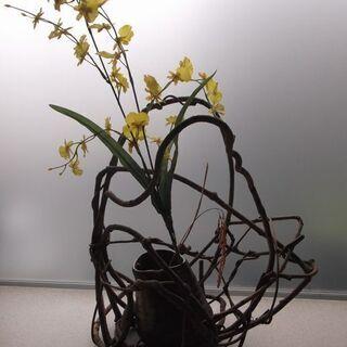 和風オブジェと花瓶 中古