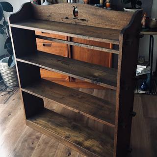 飾り棚、本棚として ヴィンテージ古道具