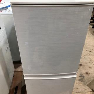 【美品】SHARPシャープ冷蔵庫SJ-14W-W/ホワイト