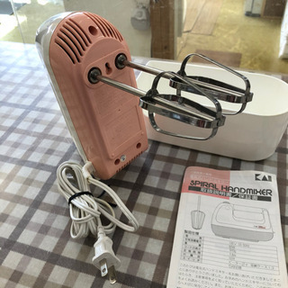 無料!!貝印☆電気式ハンドミキサー☆お菓子作りに便利ですよ♪