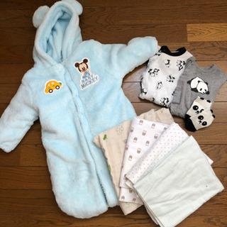 新生児〜 男の子 ベビー服 掛け物のまとめ売り