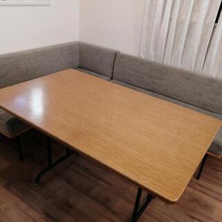 unico FUNEAT(ファニート) テーブル&ベンチ二脚セット